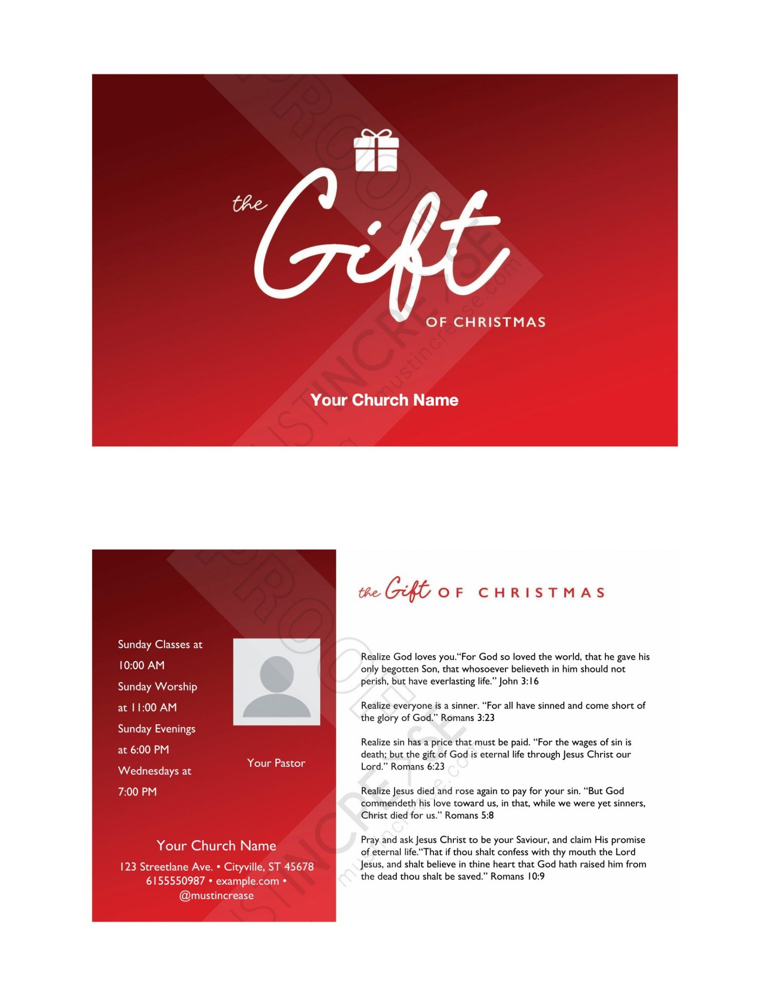 invite card the gift of christmas
