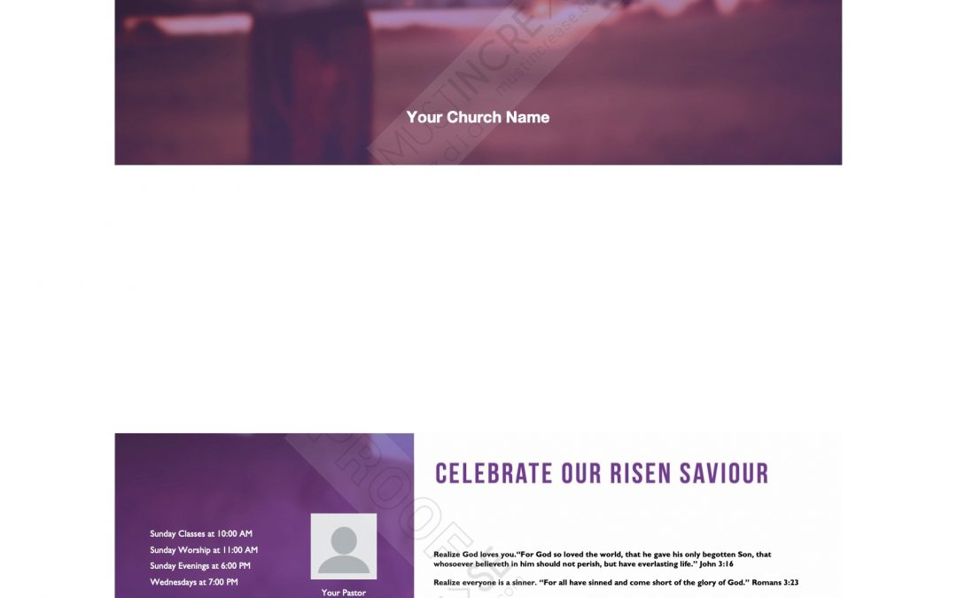 Invite Card – Easter – It Is Finished