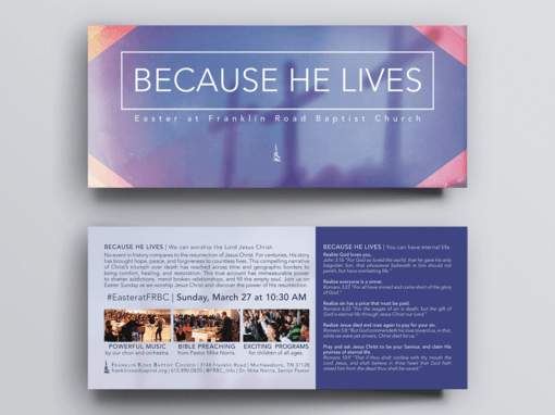 Easter Outreach Card > Franklin Road Baptist Church