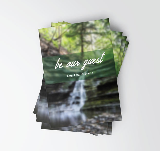 Invite Card – Waterfall Scene