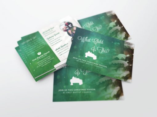 Invite Card – Christmas – What Child Is This