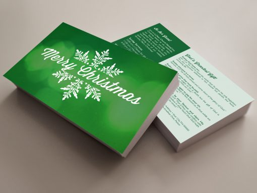 Invite Card – Merry Christmas (Green)