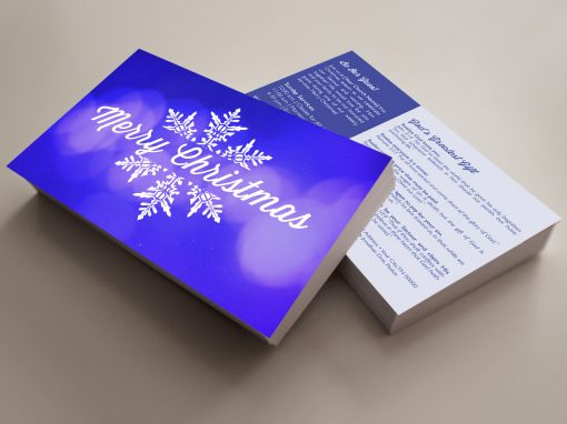 Invite Card – Merry Christmas (Blue)